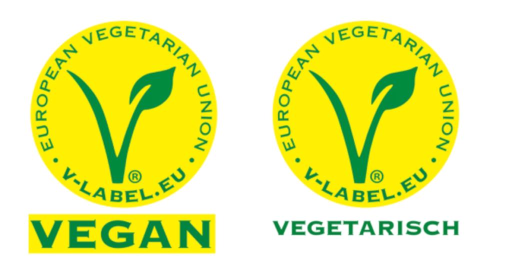V Label Vegan - V Label Vegetarisch